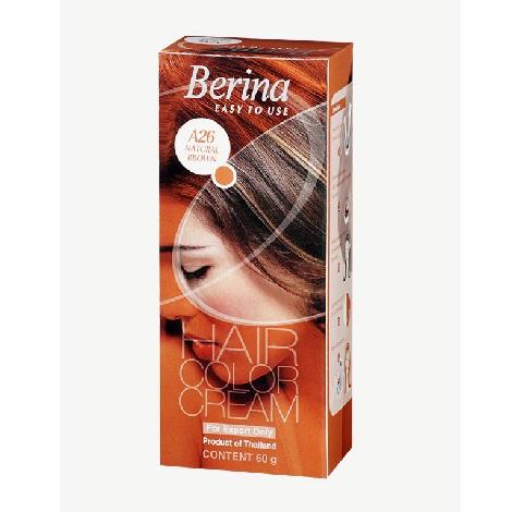 Berina Hair Color Cream A26 Natural Brown