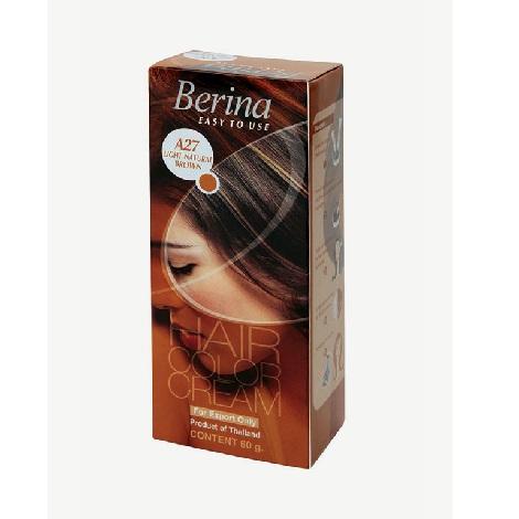Berina Hair Color Cream A27 Light Natural Brown
