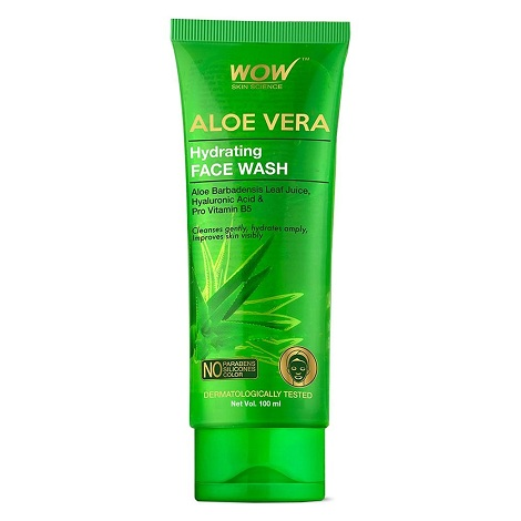 Wow Aloe Vera Face Wash With Hyaluronic Acid and Pro Vitamin B5 100ml