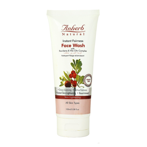 Anherb Natural Instant fairness face wash 100g