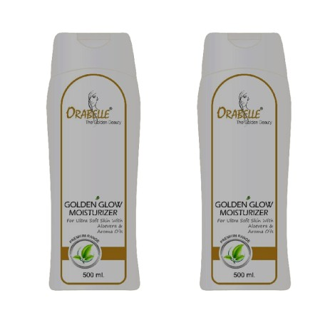 Orabelle Golden glow moisturizer 500ml set of 2