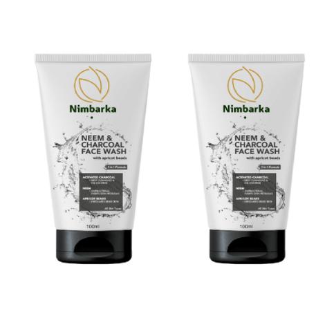 Nimbarka Neem & Charcoal Face wash 100ml set of 2