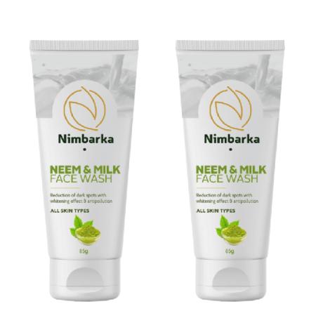 Nimbarka Neem and Milk Face wash 85g set of 2