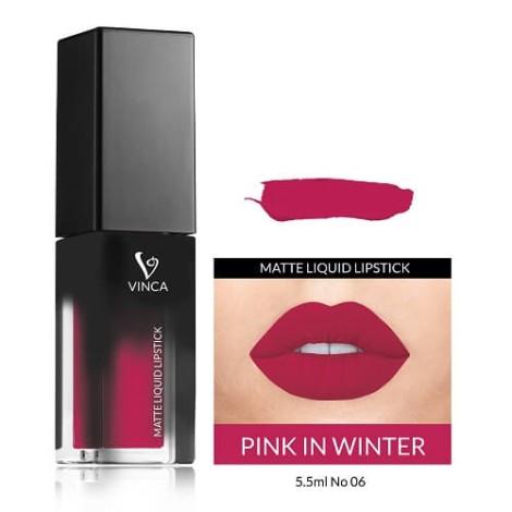 Vinca matt liquid lipstick, 06, Pink In Winter