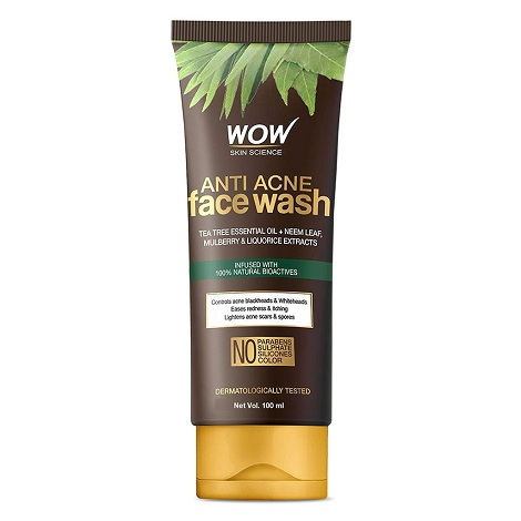 Wow Anti Acne Face Wash - Oil Free 100ml