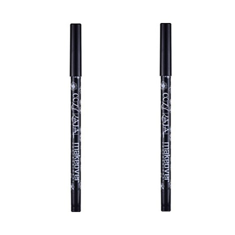 Makeover Professional Cozy Black Kajal 1.2gm (Black) set of 2