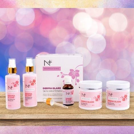 N plus derma glare skin whitening facial kit
