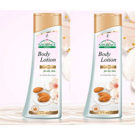 Naturence herbal sweet almond body lotion 500ml set of 2