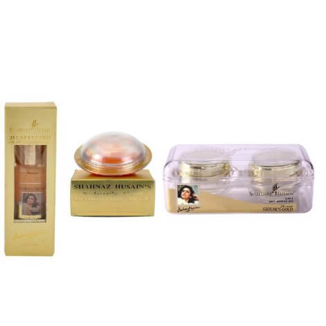 Shahnaz Husain 24 Carat Gold Facial Kit (Pack of 3) 190g